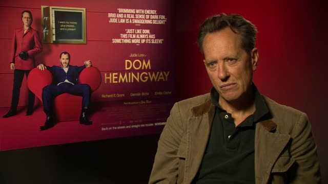 richard e grant on his relationship with jude law at 'don hemingway' interview on november 8, 2013 in london, england. - richard e. grant stock videos & royalty-free footage