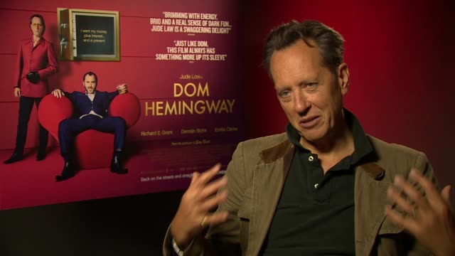 richard e grant on jude law's naked scene at 'don hemingway' interview on november 8, 2013 in london, england. - richard e. grant stock videos & royalty-free footage