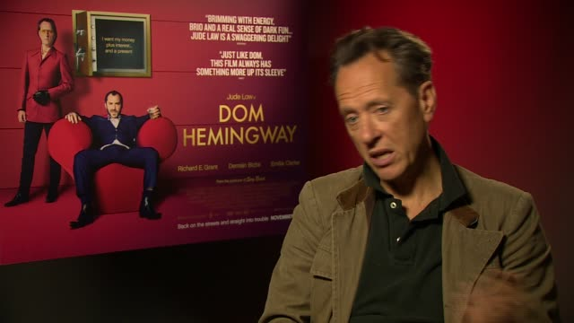 richard e grant on the chemistry between him and jude law at 'don hemingway' interview on november 8, 2013 in london, england. - richard e. grant stock videos & royalty-free footage