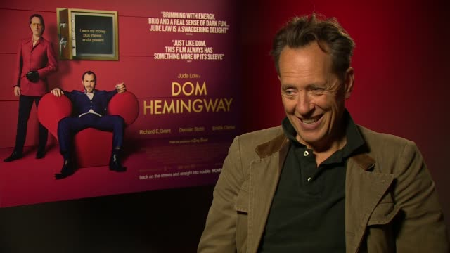 richard e grant on what drives him as an actor at 'don hemingway' interview on november 8, 2013 in london, england. - richard e. grant stock videos & royalty-free footage