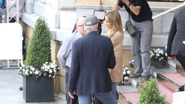Richard Gere is seen arriving at Maria Cristina Hotel with Alejandra Silva