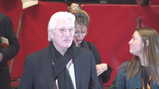 richard gere oren moverman at berlin film festival 'the dinner' red carpet at berlinale palast on february 10 2017 in berlin germany - oren moverman stock videos and b-roll footage
