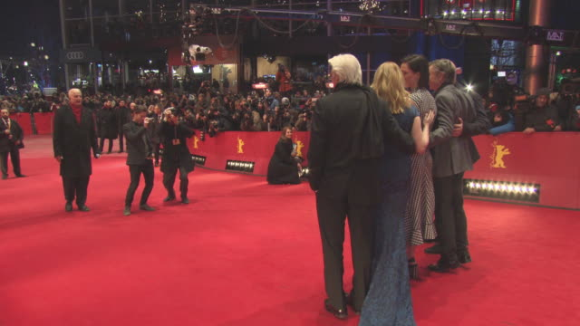 richard gere rebecca hall steve coogan oren moverman laura linney at berlin film festival 'the dinner' red carpet at berlinale palast on february 10... - oren moverman stock videos and b-roll footage