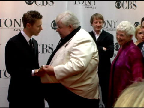richard griffiths, winner for best performance by a leading actor in a play for 'the history boys' at the 60th annual tony awards at radio city music... - the history boys stock videos & royalty-free footage