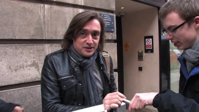 richard hammond & james may visit bbc radio two studios to promote the hit motoring show top gear. sighting - richard hammond & james may at bbc... - bbc radio stock videos & royalty-free footage