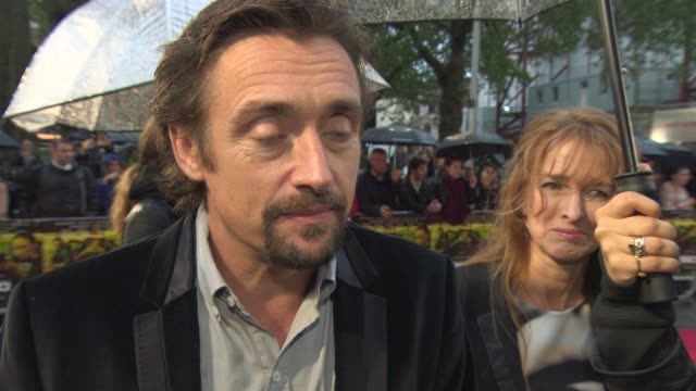 interview richard hammond on the rain in london 'top gear' revamping the programme at 'sicario' uk film premiere at empire leicester square on... - richard hammond stock videos & royalty-free footage