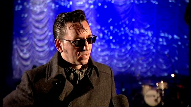 richard hawley interview; england: buxton opera house: int richard hawley interview sot - on brit awards - bit cynical at first but nice to be... - populism stock videos & royalty-free footage