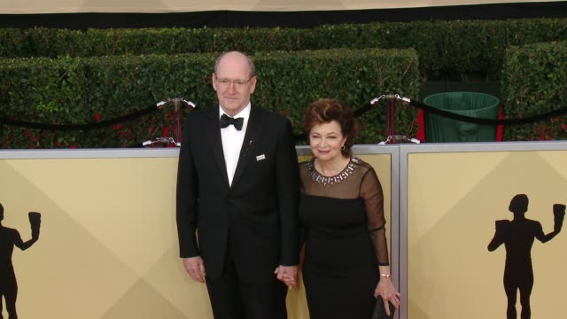 Richard Jenkins and Sharon Friedrick at the 24th Annual Screen Actors Guild Awards at The Shrine Auditorium on January 21 2018 in Los Angeles...