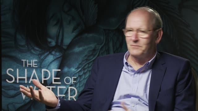 richard jenkins on acting with people who do not speak back at 'the shape of water' - interview 74th venice international film festival on august 31,... - 74th venice film festival stock videos & royalty-free footage