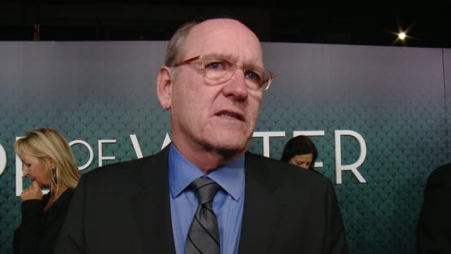richard jenkins on his initial reaction to the script, how it felt to know guillermo del toro wrote this character for him and talks about the cast... - academy of motion picture arts and sciences stock-videos und b-roll-filmmaterial