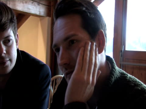 richard jones and dan gillespie sells on why they started up the little world festival and it's importance with the changing landscape of the music... - meribel stock videos & royalty-free footage