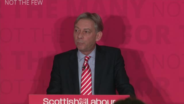 Richard Leonard elected as the new leader of Scottish Labour Party Result announced and speech SCOTLAND Glasgow INT Unnamed man announcing the result...