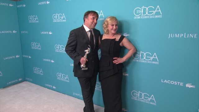 richard linklater, patricia arquette at the 17th costume designers guild awards in los angeles, ca 2/17/15 - patricia arquette stock videos & royalty-free footage