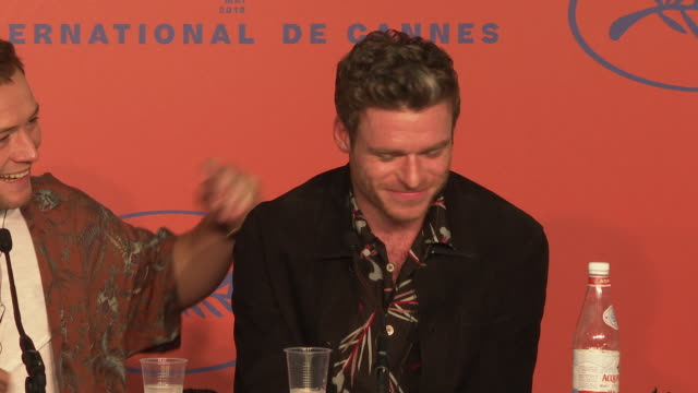 richard madden on playing james bond at 'rocketman' press conference on may 17 2019 in cannes france - david bond stock videos & royalty-free footage