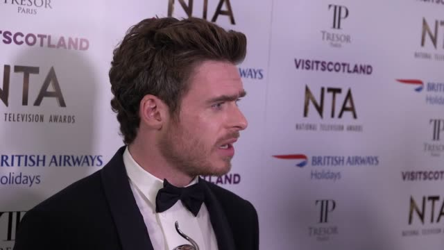 richard madden speaks to the press after winning best drama performance at the national television awards for his performance in bodyguard - bodyguard stock videos & royalty-free footage