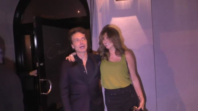 richard marx and daisy fuentes outside craig's in west hollywood at celebrity sightings in los angeles on november 17 2018 in los angeles california - daisy fuentes stock videos & royalty-free footage