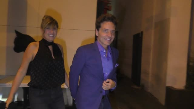 richard marx daisy fuentes are asked about the world series outside craig's restaurant in west hollywood in celebrity sightings in los angeles - daisy fuentes stock videos & royalty-free footage