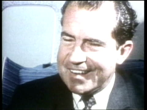 richard nixon comments about how the media portrays him. - richard nixon stock videos & royalty-free footage