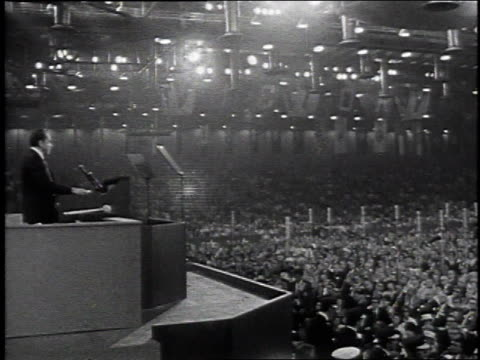 richard nixon giving a speech / united states - richard nixon stock-videos und b-roll-filmmaterial