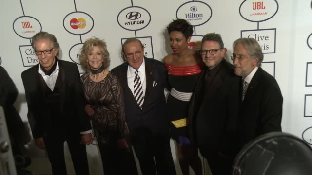 Richard Perry Jane Fonda Clive Davis Jennifer Hudson Neil Portnow Lucian Grainge at 2014 Grammy Salute To Industry Icons Honoring Lucian Grainge in...
