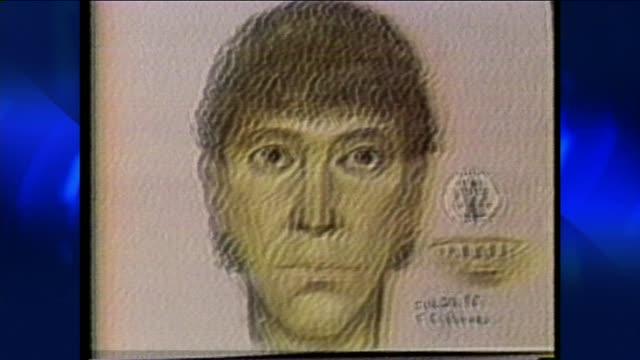 ktla richard ramirez police sketch on june 08 1984 in los angeles california - messer stock-videos und b-roll-filmmaterial