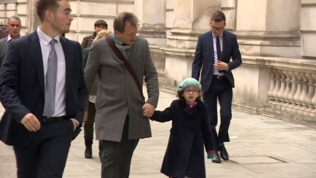 richard ratcliffe walks through whitehall with daughter gabriella to meet boris johson pm to discuss his wife nazanin zaghariratcliffe who is... - daughter stock videos & royalty-free footage