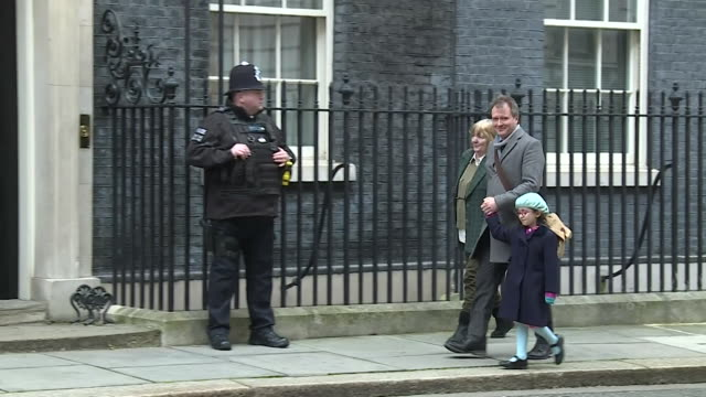 richard ratcliffe walks to 10 downing street with daughter gabriella to meet boris johson pm to discuss his wife nazanin zaghariratcliffe who is... - daughter stock videos & royalty-free footage