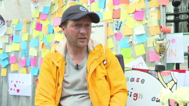 richard ratcliffe whose wife nazanin has been jailed in iran for three years is on the 10th day of a hunger strike in solidarity with his wife... - richard ratcliffe video stock e b–roll