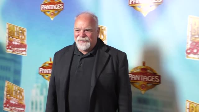 richard riehle at the bullets over broadway premiere at pantages theatre in hollywood - celebrity sightings on january 05, 2016 in los angeles,... - パンテージスシアター点の映像素材/bロール