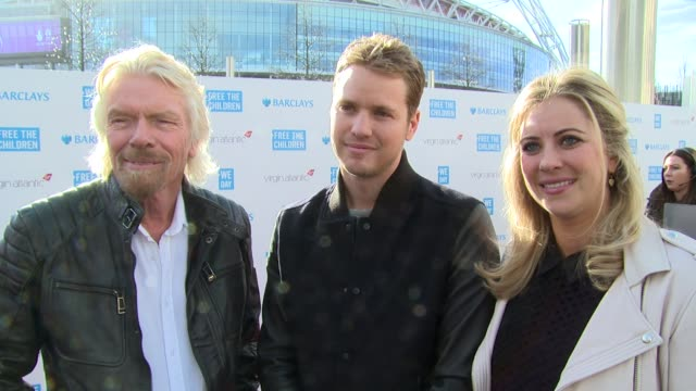 richard, sam & holly branson on we day, current work and world book day at we day uk at wembley arena on march 5, 2015 in london, united kingdom - wembley arena stock videos & royalty-free footage