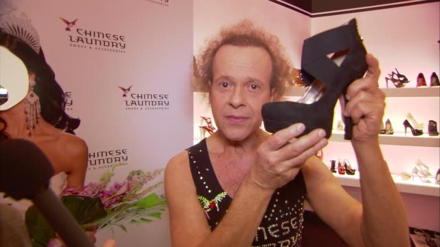 Richard Simmons on the event working with the Miss USA contestants and how he specializes in 'neck hula hooping' at the Chinese Laundry Presents The...