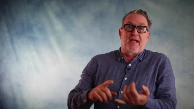 richard titus, prolific entrepreneur and founder at schematic, razorfish & prompt.ly talks about sustainability as the solution to many problems in... - interview event stock videos & royalty-free footage