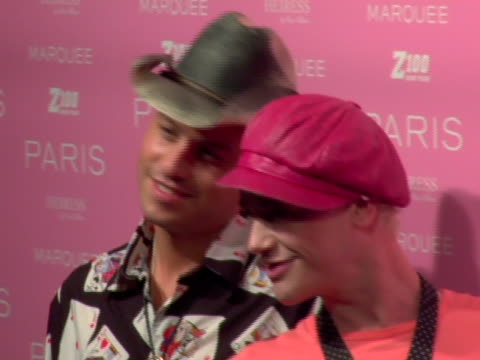 vídeos de stock e filmes b-roll de richie rich and traver rains at the paris hilton album release party at marquee in new york new york - atlântico central eua