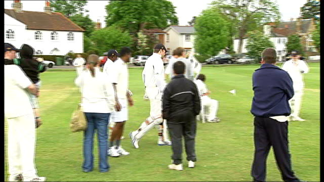 richie richardson plays in surrey amateur league england surrey thames ditton cricket club ext thames ditton cricket club ground and club house match... - ground staff stock videos & royalty-free footage