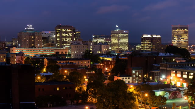 richmond cityscape - richmond virginia stock videos & royalty-free footage