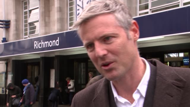 candidate interviews Zac Goldsmith interview SOT re Heathrow and byelection Christian Wolmar interview SOT General views Christian Wolmar campaigning