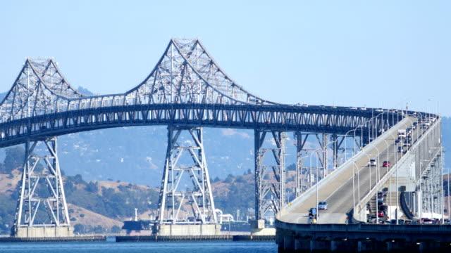 richmond–san rafael bridge, san francisco, ca - san diego stock videos & royalty-free footage