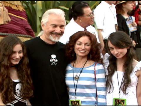 rick baker and family at the walt disney pictures' 'pirates of the caribbean: dead man's chest' world premiere at walt disneyland resort in anaheim,... - the family man film title stock videos & royalty-free footage