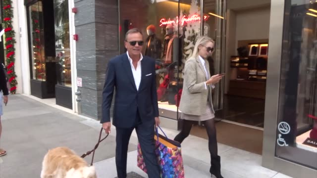 rick caruso takes his dog for a walk in beverly hills at celebrity sightings in los angeles on december 13, 2019 in los angeles, california. - celebrities stock videos & royalty-free footage