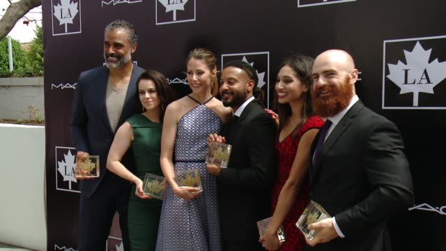 Rick Fox Amanda Crew Brandon Jay McClaren Meaghan Rath Emily Hampshire Lucas Parker at 2015 Golden Maple Awards in Los Angeles CA