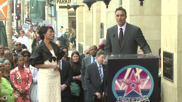 Rick Fox and Angela Bassett at the Dedication of Angela Bassett's Star on March 20 2008