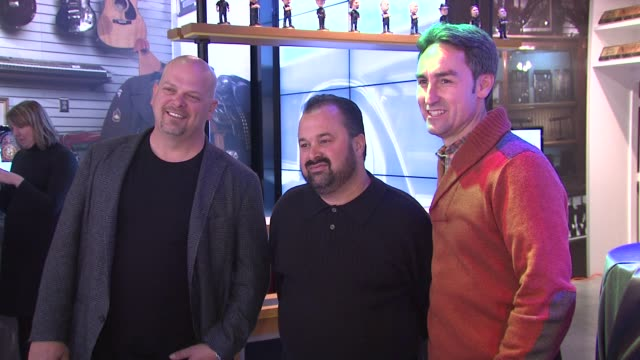 Rick Harrison from Pawn Stars Steve Ronson at the History Pop Shop Grand Opening at New York NY