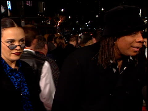 rick james at the 'jackie brown' premiere at the mann village theatre in westwood california on december 11 1997 - westwood neighborhood los angeles stock videos & royalty-free footage