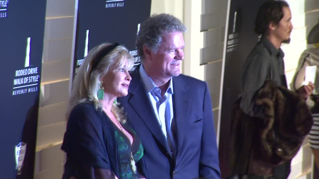 rick kathy hilton at the iman and missoni honored with rodeo drive walk of style at beverly hills ca - missoni stock videos & royalty-free footage
