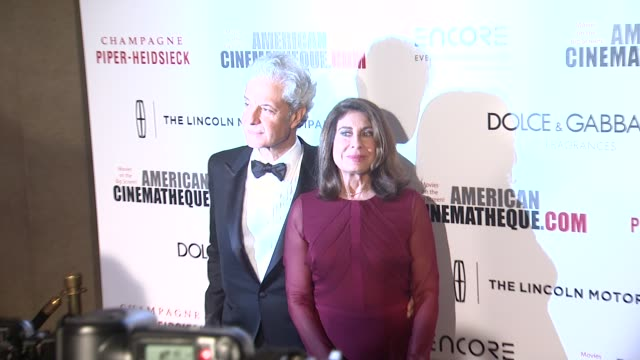rick nicita and paula wagner at the 28th american cinematheque award honoring matthew mcconaughey at the beverly hilton hotel on october 21 2014 in... - american cinematheque stock videos & royalty-free footage