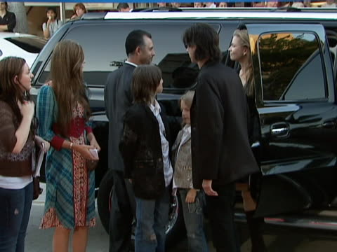 rick ocasek and paulina porizkova at the los angeles premiere of columbia pictures and revolution studios click at mann village in westwood, ca. - paulina porizkova stock videos & royalty-free footage