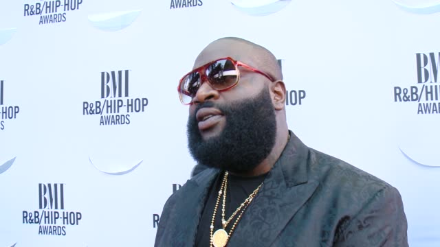 INTERVIEW Rick Ross on being at the event the first record that inspired him to write on Nile Rodgers and on BMI at the 2015 BMI RB/HipHop Awards at...
