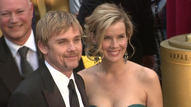rick schroder and guest at the 81st academy awards arrivals part 7 at los angeles ca. - リック シュローダー点の映像素材/bロール