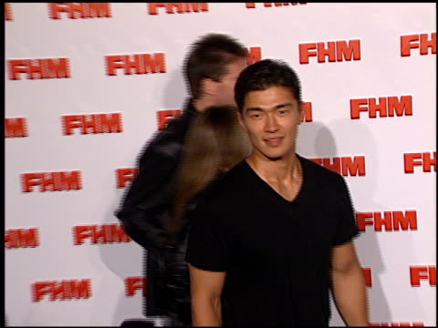 Rick Yune at the FHM Magazine 100 Sexiest Women at La Boheme in West Hollywood California on May 17 2001