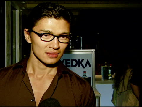 rick yune on the event his version of the future of misbehavior and the future in general at the ali larter hosts the launch of 2033 the future of... - ali larter stock videos & royalty-free footage